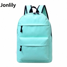 Jonlily Nylon Women Backpack Fashion Shoulder Back Bag Preppy Style Book Backpacks Teenage Girls Casual Travel Backpack LI-330
