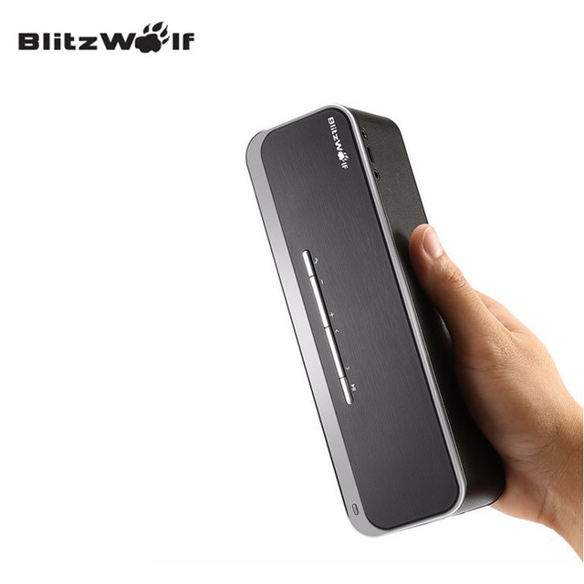 BlitzWolf New BW-F4 xBASS Bluetooth Wireless 10W*2 4000mAh Outdoor Hands-free Portable AUX CSR 4.0 Speaker With Mic For Phone