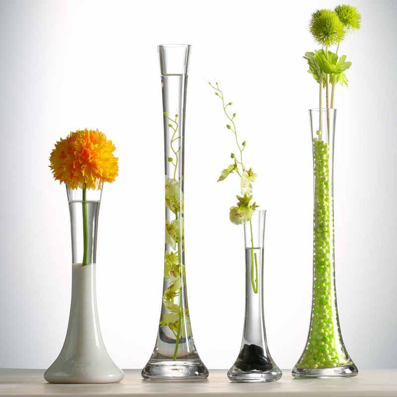 Giemza Large Floor Vases Tall 1pc High Glass Vase For Home Decor Thin Single Flower Bottle No Dried Plant On Floor Decoration Vases Aliexpress