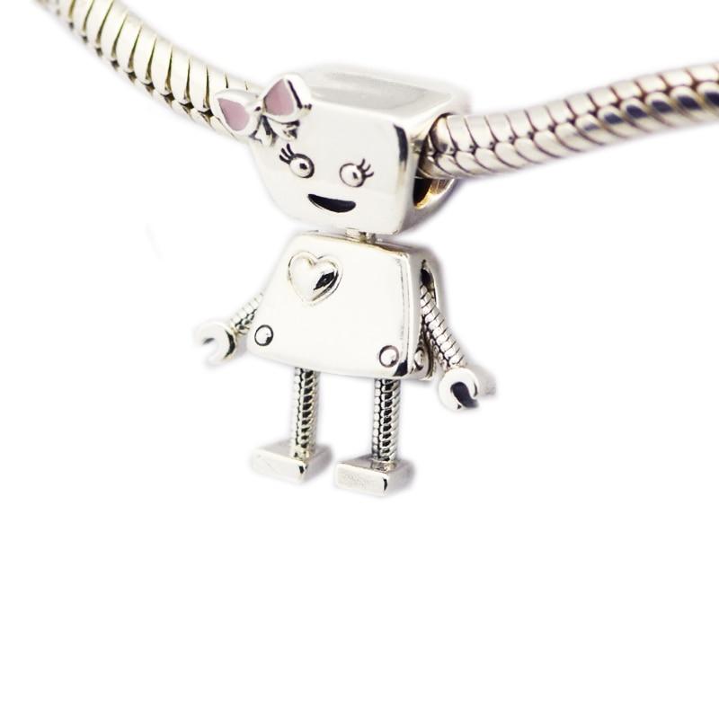 9ea4203f4 925 Sterling Silver Jewelry Bella Bot Charm, Pink Enamel Charms Original  Fashion Beads Fits Pandora Bracelets PANDOCCIUSD 19.68/piece