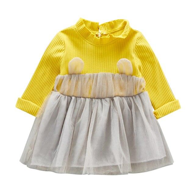 Baby Mädchen Kleidung Partei Kleid Herbst Langarm Kaninchen Ohren ...