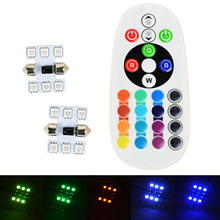 1 компл. нескольких цветов 30 мм гирлянда шарик автомобиля RGB Изменение светодиодный светильник авто интерьер купола красочный свет с беспроводной Дистанционное управление