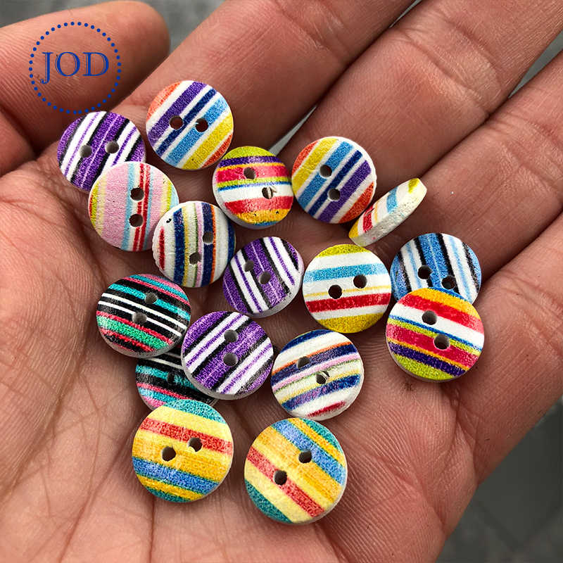 JOD 10 piezas colores mezclados botones de madera para ropa DIY niños ropa botón para camisa chaqueta niños regalo costura las aplicaciones