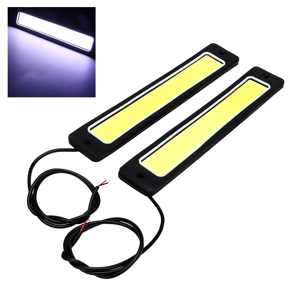 2pcs Super Bright Waterproof Daytime Running light Bendable LED Car DRL Day Time Lights Reversing Lamp Flexible COB 2pcs led car fog lamp super bright 1000lm waterproof drl eagle eye light external lights daytime running lights