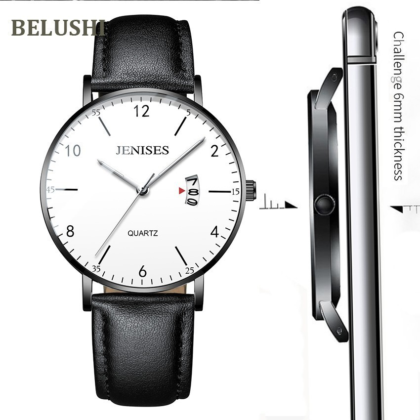 Belushi Men's watches top Luxury Business Casual Wrist Watch Men Waterproof Sports Quartz Men's Watches Thin Relogio Masculino|Quartz Watches| - AliExpress