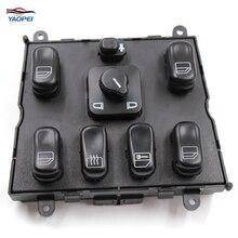 Yaopei новые электронные Мощность переключатель окна для Benz 1998-2003 M-Klasse ML320 ML500 ML430 ML55 AMG 1638206610 03751566