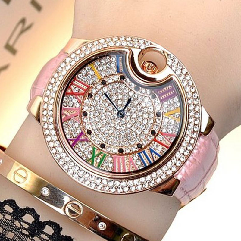 top brand luxury quartz watch women 2016 relogio feminino fashion leather band ladies dress watches montre femme reloj mujer  ruimas original ladies watch top brand luxury quartz women watches reloj mujer montre femme for female relogio feminino