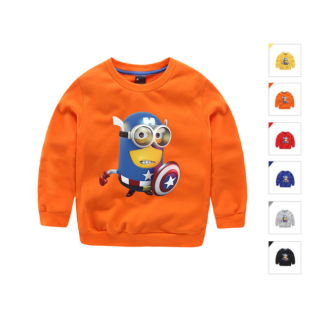 2016 Otoño Bebé Ropa de Los Muchachos Camisetas de Los Niños Niñas niños Monzón Niños Despicable Me Minions Ropa para Bebés de Navidad La Freds