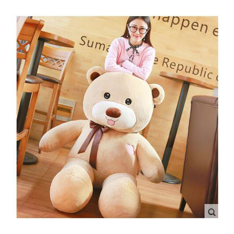 Kawaii Bear Oversize 160CM Creative Panda Bear Doll With PP Cotton inside Bear Plush Baby Doll Toys For Kids Birthday Gift Toys lovely giant panda about 70cm plush toy t shirt dress panda doll soft throw pillow christmas birthday gift x023
