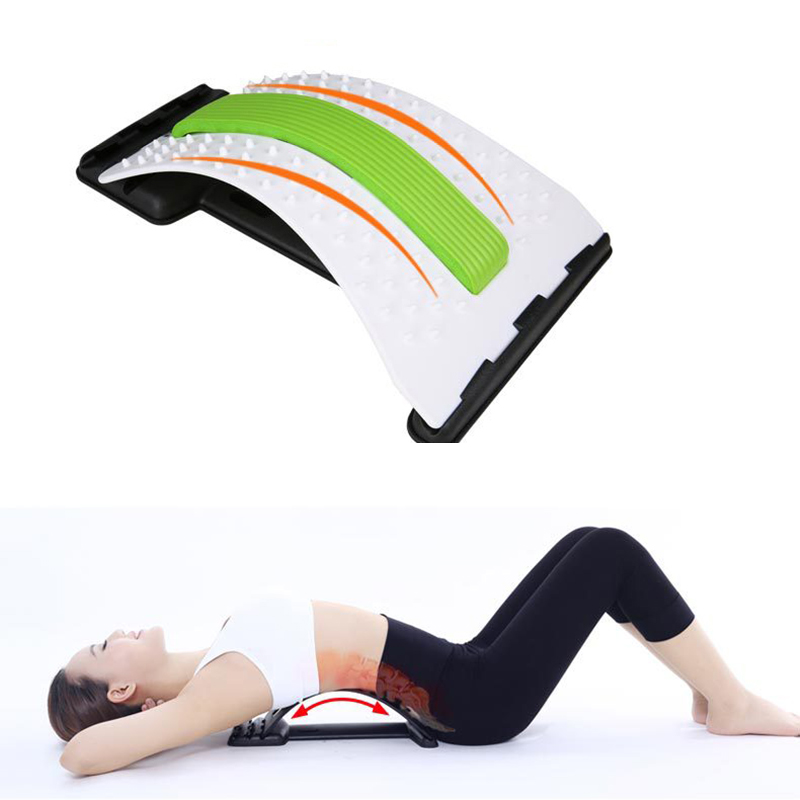 Multi Level Back Massage Stretching Fitness Equipment Acupuncture Moxibustion Back Support Stretcher Waist Relax Mate Device