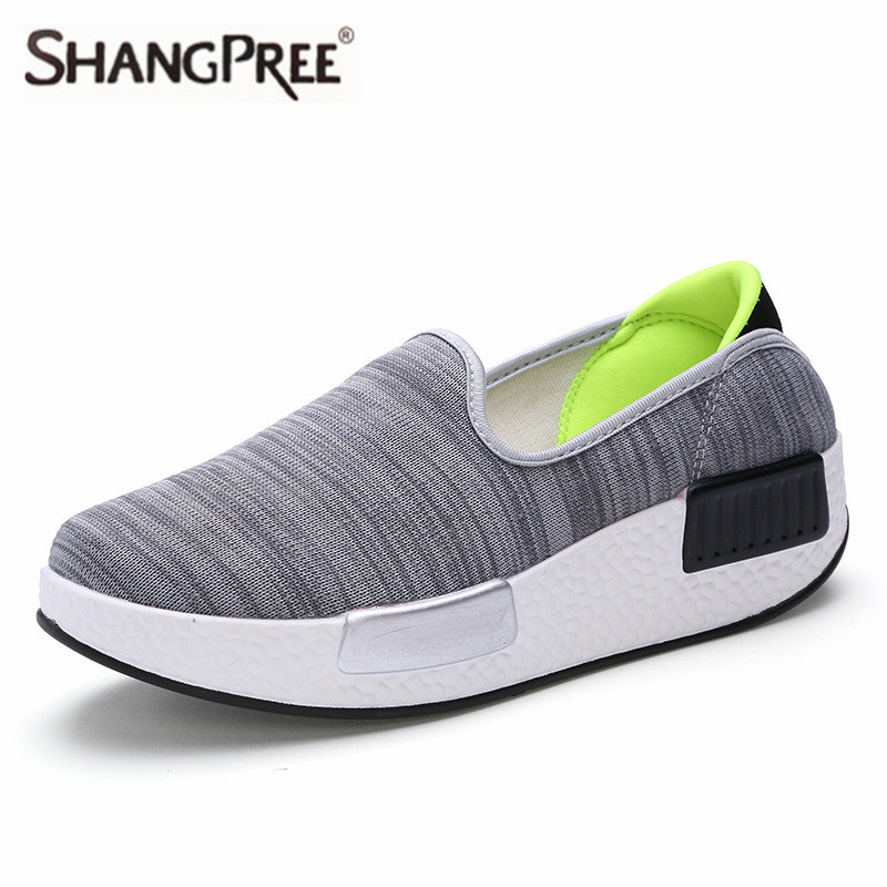SHANGPREE Fashion Breathable Women Casual Shoes Lightweight Platform Shoes Spring Autumn Women Shoes Height Increase Swing Shoes spring and autumn new star models with the same paragraph casual women s shoes hot fashion joker shoes breathable canvas shoes