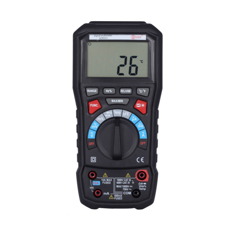 AIDETEK ADM20 Auto Range Digital Multimeter DMM USB Support PC backlight 100% original fluke 15b f15b auto range digital multimeter meter dmm