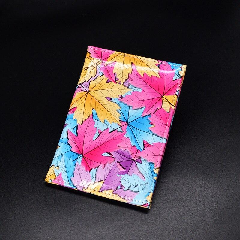 Pěkný návrhář cestovní cestovní kryt pro ženy a dívky soft kůže kožené pouzdro pro pasy
