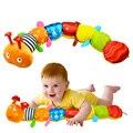 2016 Brinquedos Do Bebê Musical Brinquedos Educativos Lagarta Com Anel do Sino Stuffed Animal Plush Brinquedos Infantis Chocalhos Mobiles 55 cm
