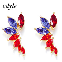 Cdyle Crystals From Swarovski Dangle Earrings Women Mixed Color Luxury Earring Fashion Jewelry Elegant Austrian Rhinestone