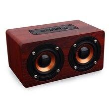 Retro Wooden Bluetooth Speaker HIFI Wireless Speaker 3D Dual Loudspeakers Surround Mini Portable altavoz bluetooth USB Charging