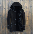 2015 British fashion Men's Korean Sheep Shearing Fur  Hooded Men's fur jacket Men's leather jackets Coat 8127