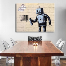 Banksy Massive Attacks Robert Graffiti Art Canvas Poster Painting Wall Picture Print Modern Home Bedroom Decoration Accessories