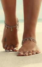 Antique Silver Vintage Bell Coins Charms Ankle Bracelet Barefoot Sandals Anklets for Women Foot Jewelry Anklet