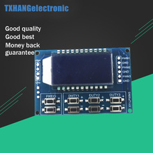 Signal Generator 3-way LCD Display Module Output PWM Pulse Frequency Duty Cycle Adjustable Display Modules 1Hz-150Khz 3.3V-30V