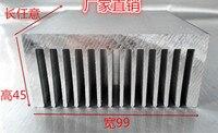 High Power Amplifier Plate Aluminum Heat Sink 99 45 100mm Industrial Power Radiator 8MM Thick Bottom