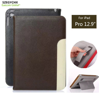 SZEGYCHX Fashion Tablet Smart Cover Laptop Case For iPad Pro 12.9 inch PU Leather Sleep Wake function Gift Touchsreen pen
