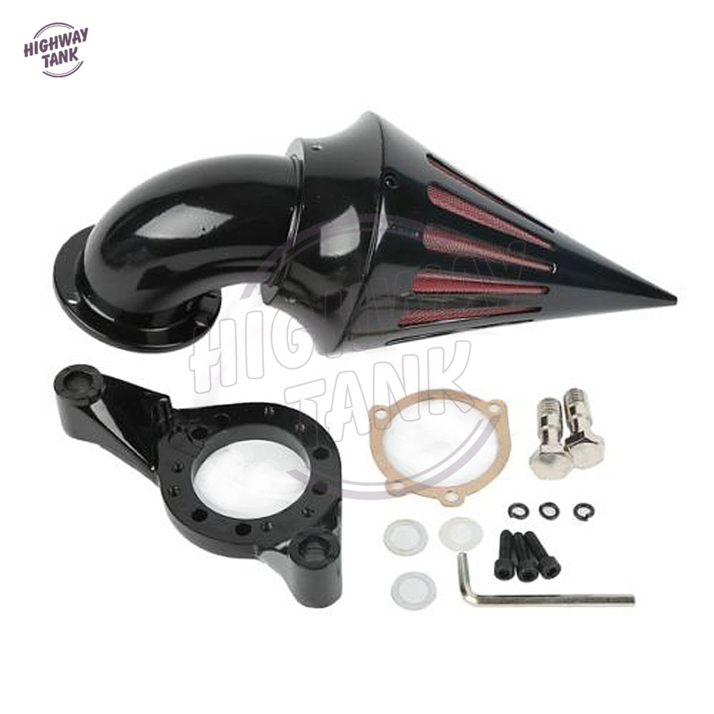 aliexpress com   buy black motorcycle spike air cleaner