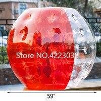 Бесплатная доставка ТПУ Материал 1,5 м пузырь Футбол надувной пузырь футбольный мяч бампера тела Zorb надувной шарик хомяка