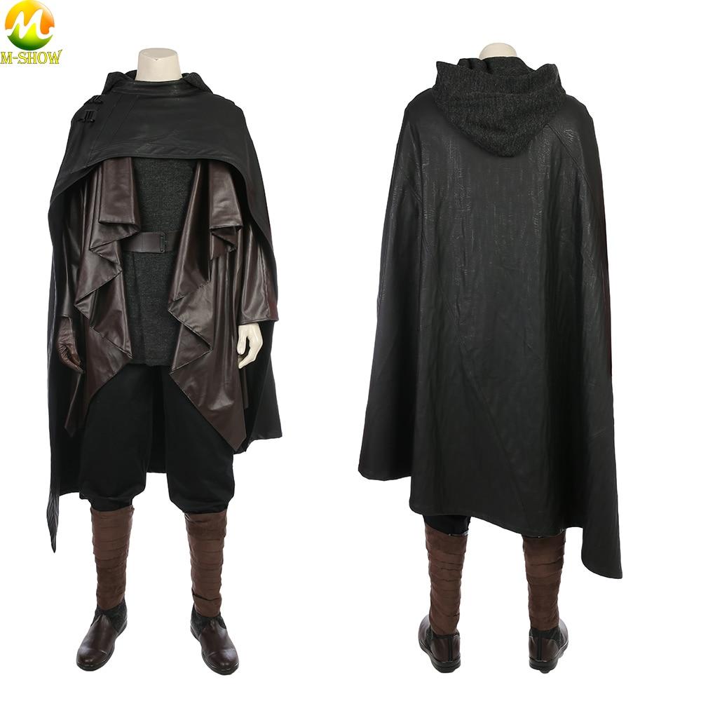 Star Wars 8 The Last Jedi Cosplay Costume Luke Skywalker Cosplay Costume Full Set For Halloween Party Custom Made