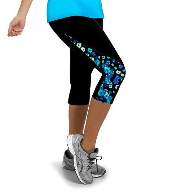 Running Women Sports Workout Leggings Fitness Pants Flower Slim Girls Clothing Pant Liner Lulu Pants For Female Lady Sports E91