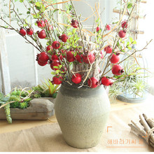Artificial flowers pomegranate dry branch aritifical fruit home decoration road lead flower wall fake