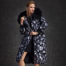 Plus size Super warm 2016 Winter Jacket Women Down Jackets Women's Down Coat  thicken large fur Hood Duck down outerwear parka