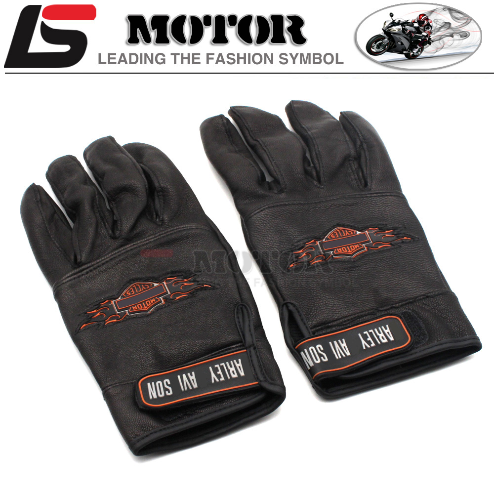 Leather motorcycle gloves best - Best Fasion Nwe 2016 Hot Sale Harley Motorcyclists Leather Gloves Long Section Of Men S Leather Motorcycle Gloves Flame Gloves Best