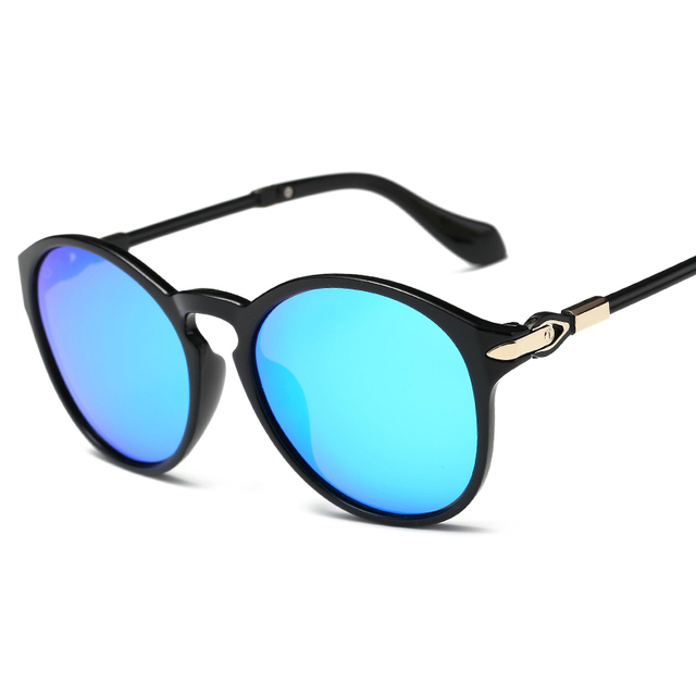 dcd2ef4cfb321a 2017 Vintage Round Polarized Sunglasses Women Men Brand Driving Reflective  Coating Lens Sun Glasses Mirror Shades