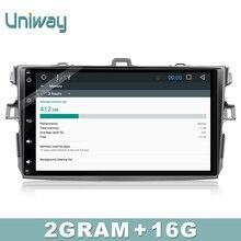 Uniway 2 г + 16 г Android 6.0 Автомобильный DVD для TOYOTA COROLLA 2008 2007 2009 2010 2011 автомобилей Радио GPS плеер головное устройство
