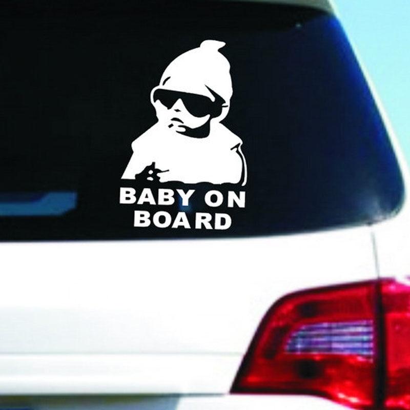 14*9 см baby автомобиль прохладно сзади светоотражающие наклейки детские наклейки предупреждения для BMW Все серии 1 2 3 4 5 6 7 X E серии F E46 E90 X1 X3