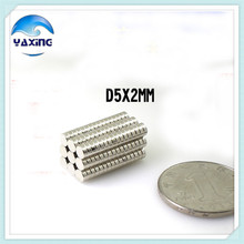 Free shipping 100 PCS Dia 5x2 mm hot round magnet magnetic Rare Earth Neodymium Magnet 5x2mm wholesale Strong magnets 5*2mm