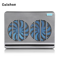 17 inch Laptop Plastic Cooler Pad with Dual 16cm Air cold Fan Double USB Interface Cooling Base Stand for Macbook Air Pro DELL