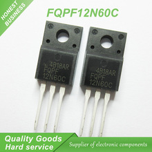 10pcs free shipping FQPF12N60C 12N60C 12N60 600V 12A MOSFET N-Channel transistor TO-220F new original