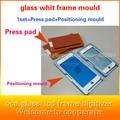 Para iphone7 7 plus 6 s 5S vidrio marco whit uno en dos posicionamiento molde de aleación de aluminio de la almohadilla de goma Espuma de pantalla lcd reparación