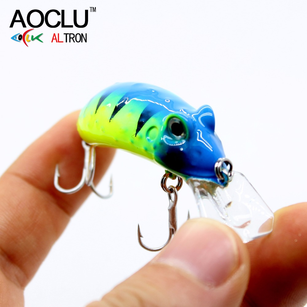 AOCLU frog wobblers Jerkbait 4 Colors 4.5cm 6.8g Hard Bait Small Minnow Crank Fishing lures top water tackle floating lure 1pc 5 5cm 13g frog lure fishing lures treble hooks top water ray frog artificial minnow crank strong artificial soft bait