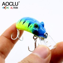 Купить с кэшбэком AOCLU frog wobblers Jerkbait 4 Colors 4.5cm 6.8g Hard Bait Small Minnow Crank Fishing lures top water tackle floating lure
