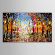 100% best gift Hand Painted Landscape Painting Home Decor Wall Art Picture Handmade modern Palette Knife Oil On Canvas