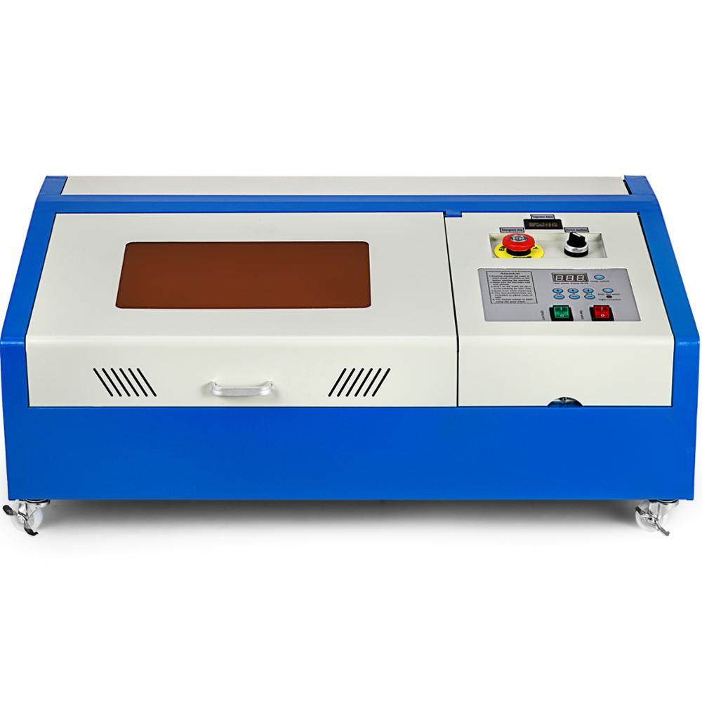 VEVOR Laser Engraving 40W CO2 DIY Engraving Machine USB LCD Display Gas Engraving Machine Wheels Turning Cutting 300X200mm
