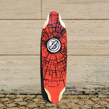 KOSTON pro longboard decks with bamboo and canadian maple mixed,36.7 inch*10 inch long skateboard deck for downhill racing