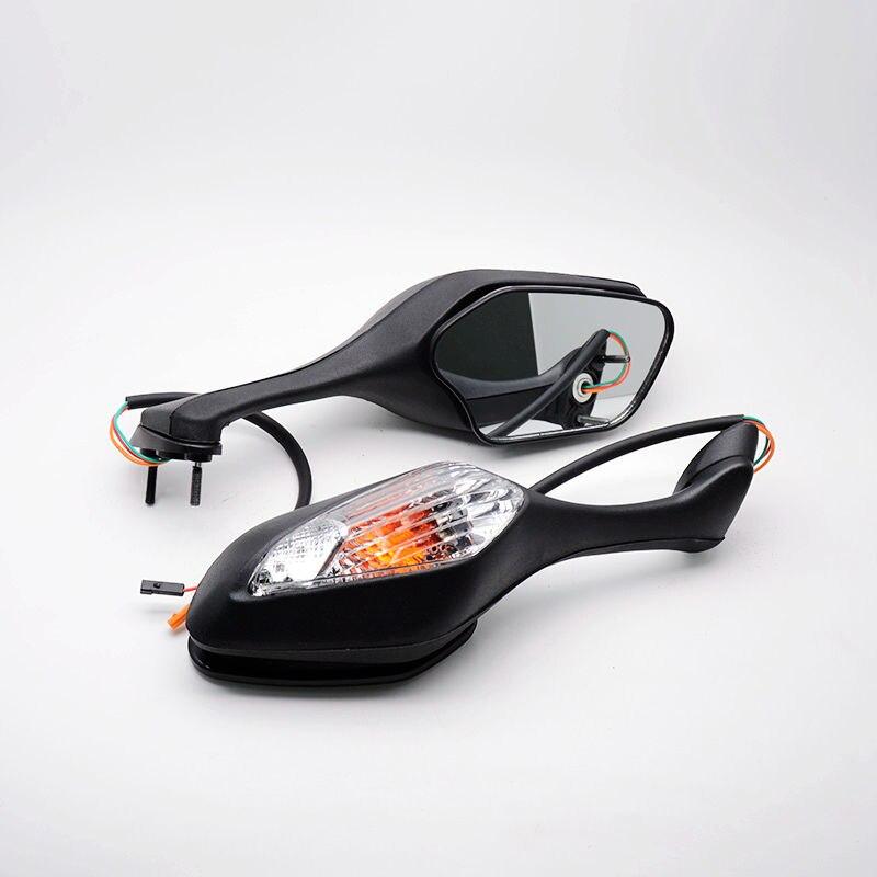 Black ABS Motorcycle Mirror LED turn Light Motor Rear View Mirror Signal for 2008-2013 Honda CBR 1000RR 2010-2012 Honda VFR 1200