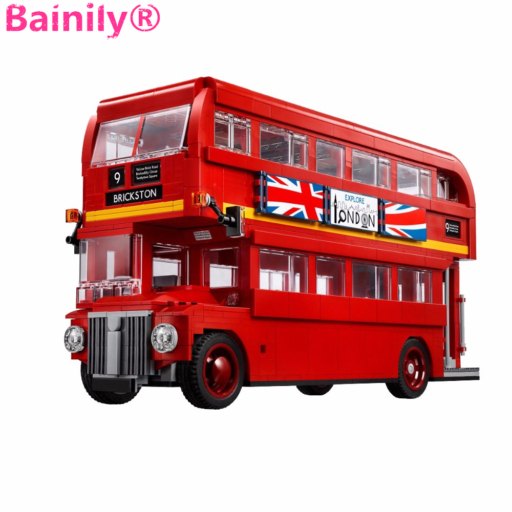 цены [Bainily]1716Pcs Genuine Technic Series The London Bus Set Building Blocks Bricks Children Educational Toys Model Gifts
