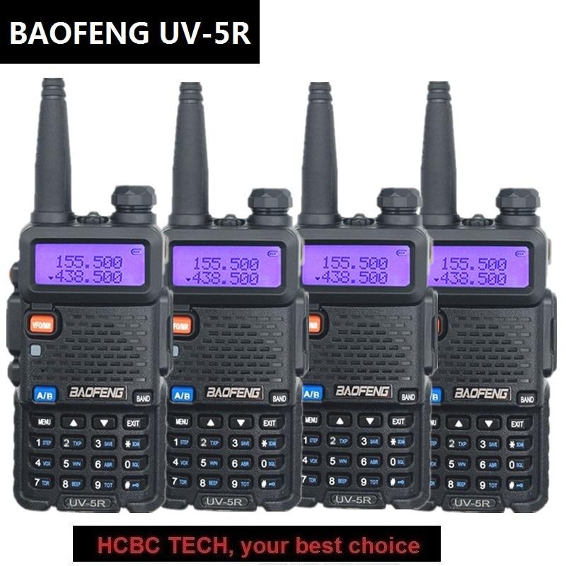 4PCS BAOFENG UV 5R Walkie Talkie VHF UHF 136 174 MHZ/400 520 MHZ Schinken CB Radio station HF Transceiver Radio Comunicator 1800MAH 5W-in Funkgeräte aus Handys & Telekommunikation bei AliExpress - 11.11_Doppel-11Tag der Singles 1