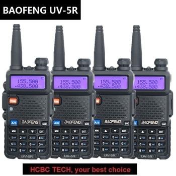 4PCS BAOFENG UV-5R Walkie Talkie VHF UHF 136-174MHZ/400-520MHZ Ham CB Radio Station HF Transceiver Radio Comunicator 1800MAH 5W