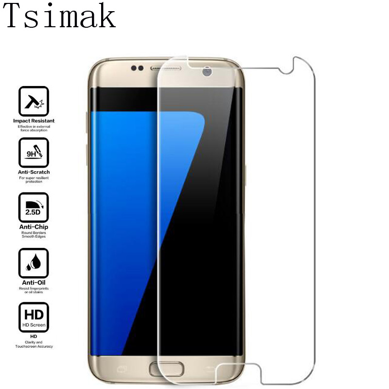 Tsimak Tempered Glass For Samsung Galaxy S2 S3 S4 S5 Mini S6 S7 Edge Active Screen Protector Film G9200 G9300 G9350 Phone Case